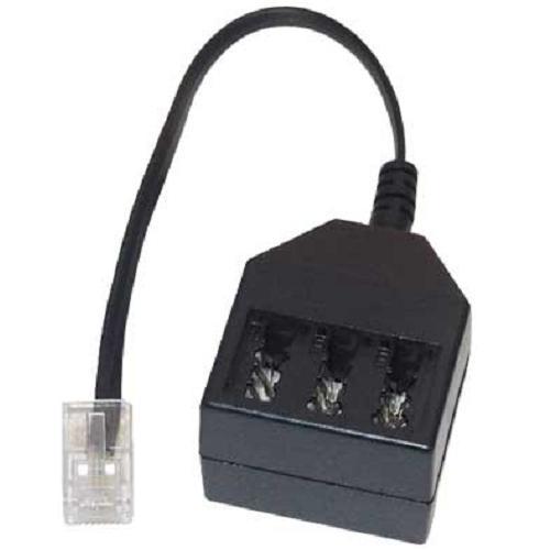 telefonadapter rj11 stecker tae buchsen nff verteiler kupplung isdn. Black Bedroom Furniture Sets. Home Design Ideas