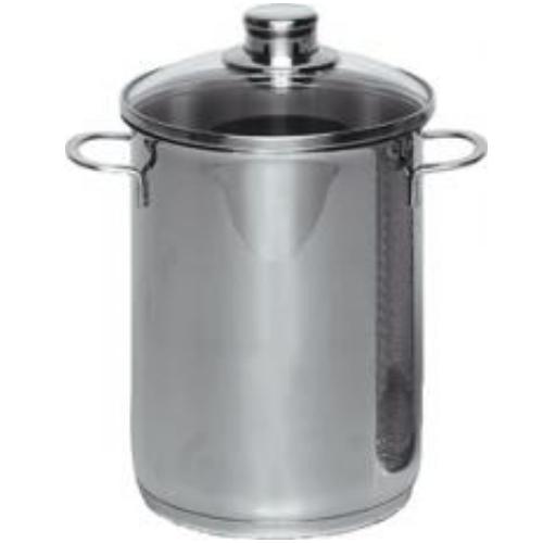 kr ger hoher spargel und spaghetti topf 3016e 4 5 liter suppentopf mit einsatz ebay. Black Bedroom Furniture Sets. Home Design Ideas