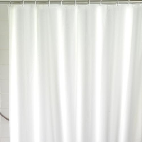 wenko dusch vorhang uni wei 180x200 cm kunststoff inkl 12 ringe 19104100 ebay. Black Bedroom Furniture Sets. Home Design Ideas