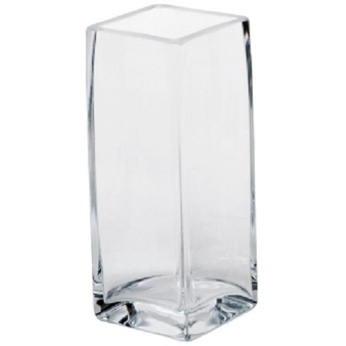 sandra rich dekovase square eckig glas 30x10 cm blumenvase floristikvase ebay. Black Bedroom Furniture Sets. Home Design Ideas