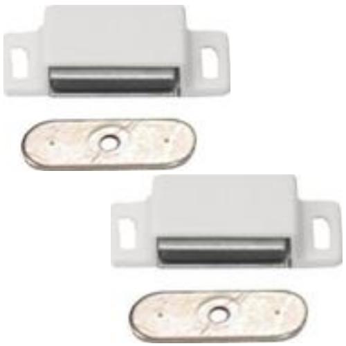 magnetschn pper 6 kg wei 2 st ck kunststoff magnet schnapper t rschnapper. Black Bedroom Furniture Sets. Home Design Ideas