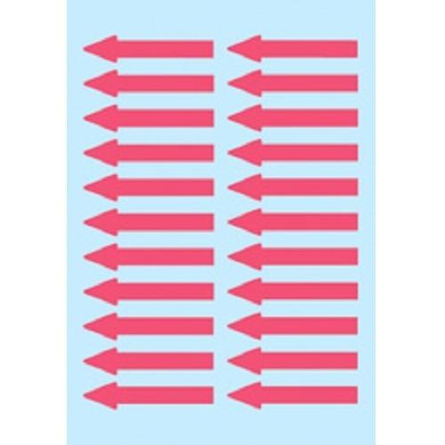 Herma Hinweis Aufkleber Pfeile, 38x7 mm, 88 Stück, leuchtrot, Pfeil Etiketten