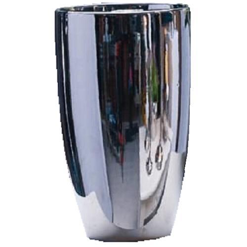 vase malta keramik silber chrom 12x20 cm blumenvase ebay. Black Bedroom Furniture Sets. Home Design Ideas