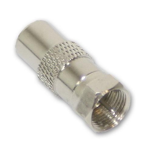 sat adapter f stecker koaxial stecker tv receiver kabel kabelkupplung ebay. Black Bedroom Furniture Sets. Home Design Ideas