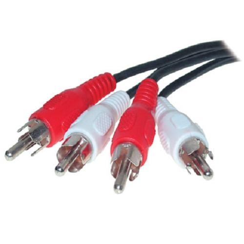 S-Conn Cinch Kabel, 2fach, schwarz, 0,75 m