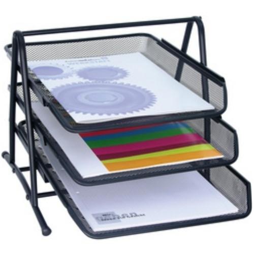 wedo briefablage office 3 ablagen schwarz posteingangsfach dokumenten ablage ebay. Black Bedroom Furniture Sets. Home Design Ideas