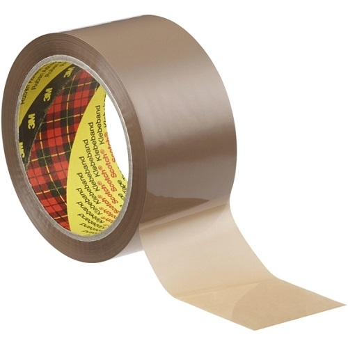 3M Scotch Klebeband 371, 50 mm x 66 m, 6 Rollen, braun, Packband, Klebestreifen