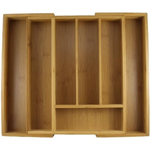 zeller besteckkasten bamboo ausziehbar besteck sortierer schubladeneinsatz ebay. Black Bedroom Furniture Sets. Home Design Ideas