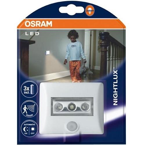 osram led lampe nightlux 12 60 sek bewegungsmelder nachtlicht batteriebetrieb ebay. Black Bedroom Furniture Sets. Home Design Ideas
