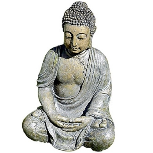 skulptur buddha kunstharz 40 cm statue figur budda gro e steinfigur 40cm ebay. Black Bedroom Furniture Sets. Home Design Ideas