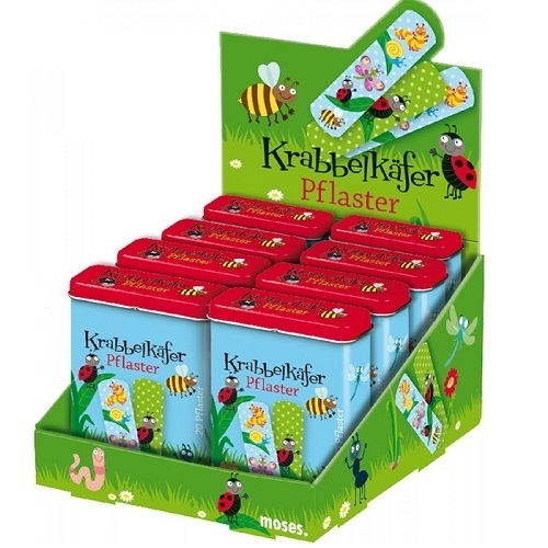 Moses Krabbelkäfer Pflaster, ab 3 Jahre, 20 Stück, Kinder, Wundpflaster