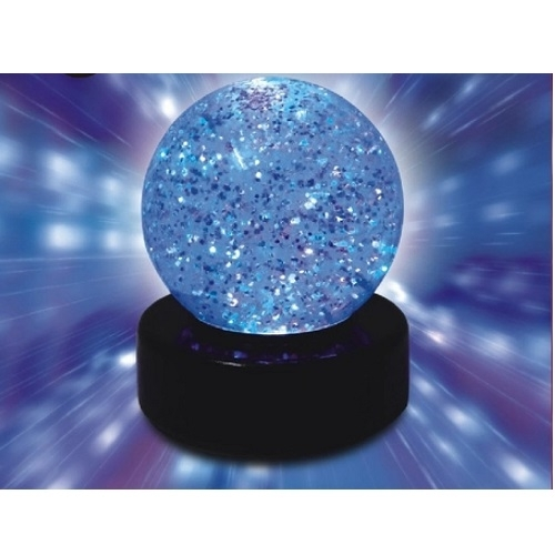 kuenen glitzerball led lampe mit farbwechsel spielball batteriebetrieben ebay. Black Bedroom Furniture Sets. Home Design Ideas