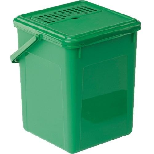 rotho komposteimer mit aktivkohlefilter 8 l gr n biom ll abfalleimer m lleimer ebay. Black Bedroom Furniture Sets. Home Design Ideas