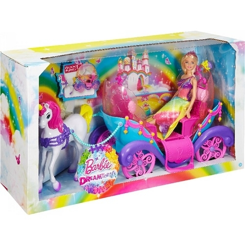 mattel barbie regenbogen prinzessin mit einhorn und. Black Bedroom Furniture Sets. Home Design Ideas