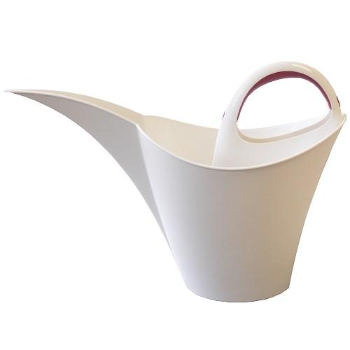 keira design gie kanne kunststoff 2 l wei stapelbar blumengie er blumenkanne ebay. Black Bedroom Furniture Sets. Home Design Ideas
