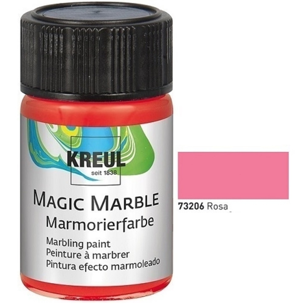 kreul marmorierfarbe magic marble 20 ml rosa kreativit t. Black Bedroom Furniture Sets. Home Design Ideas
