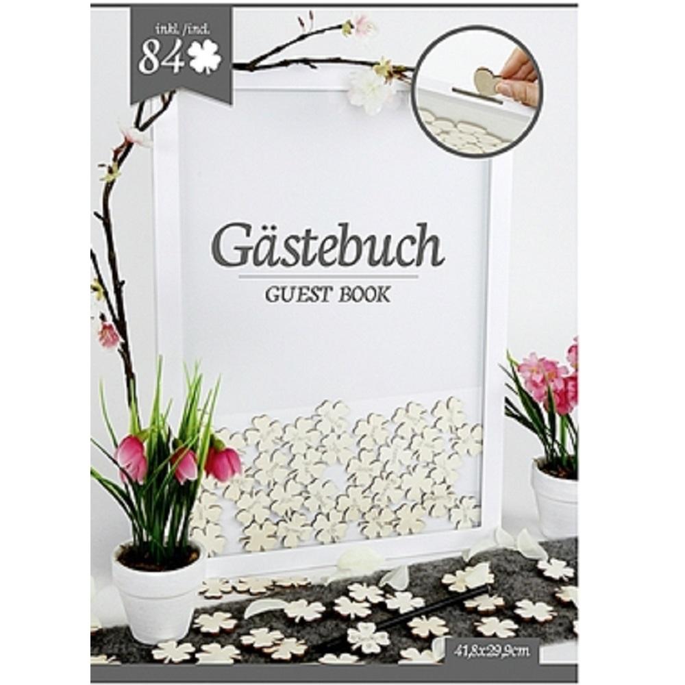 g stebuch im rahmen 84 kleebl tter 41 8x29 9 cm wandgalerie rahmen ebay. Black Bedroom Furniture Sets. Home Design Ideas